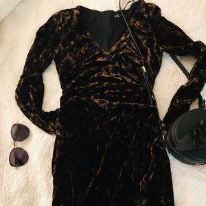 New ZARA velvet leopard print dress